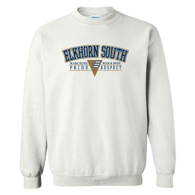 "ESHS Band ""Pride & Respect"" Gildan Crewneck Sweatshirt – WHITE"